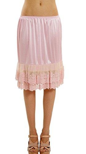 Double Lace Half Slip Satin Skirt Extender 21