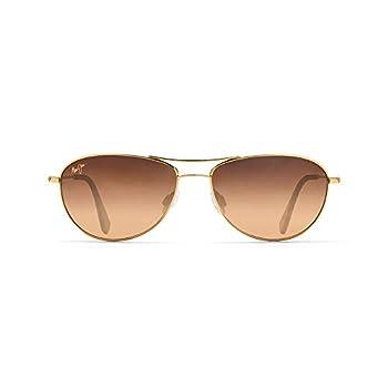 Maui Jim Baby Beach Aviator Sunglasses Gold Frame/HCL Bronze Lens One Size