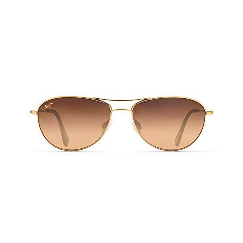 Maui Jim Baby Beach Aviator Sunglasses, Gold Frame/HCL Bronze Lens, One Size