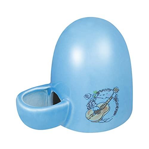 POPETPOP Automatisch Kleines Tier Wasserspender Keramik Haustier Trinkwasser Flasche Wasser Feeder Wassernapf für Vogel, Igel, Hamster und Kleines Tier (Blau)