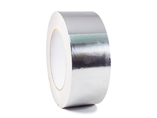 T.R.U. AF-20R Heat Shield Resistant Aluminum Foil Tape: 2 in. Wide x 50 yds. (2Mil)