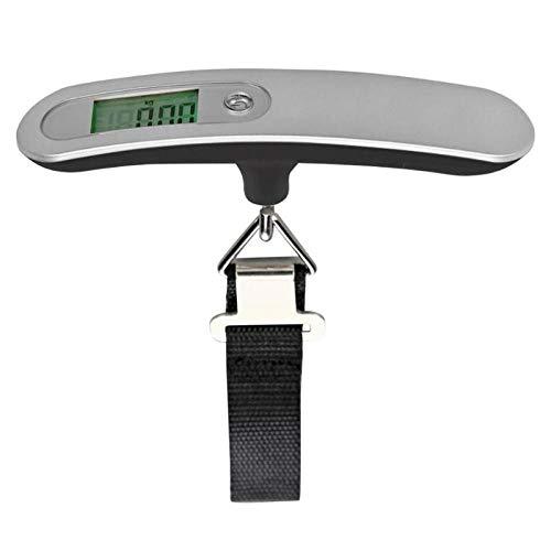 50 kg / 110lb Bolsa de equipaje electrónica Escala de mano Pescado LCD Gancho Colgante Equilibrio Maleta de compras de viaje portátil con correa