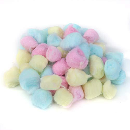 Prosperveil Lot de 100boules de coton colorées pour maisons de hamster