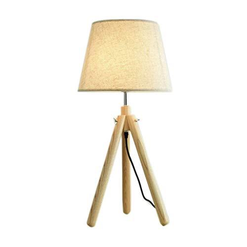 Allamp Norte de Europa Iluminación decorativa, Reading lámpara- de noche y lámparas de mesa Lámpara de madera sólida del dormitorio Estudio de noche Decoración nórdica sólido simple de madera Led lámp