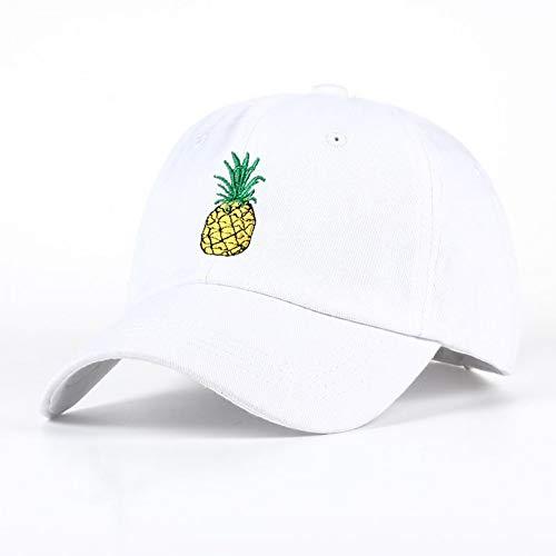 SADUZI Baseballmütze Frauen Hip Hop Baseball Cap Obst Ananas Sommer Herren Sonnenhut Teen Hysteresenkappen Anzug Für Jugendliche Erwachsene, Weiß