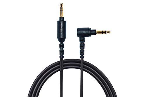 AGS Retail Ltd - Cable alargador de audio en ángulo recto compatible con auriculares inalámbricos Sony WH-1000XM2 y WH-1000XM3, color negro