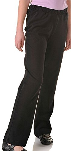 Vexcon joggingbroek Girls met elastische band, zonder koord, kleur zwart, maat 134-170, 100% katoen