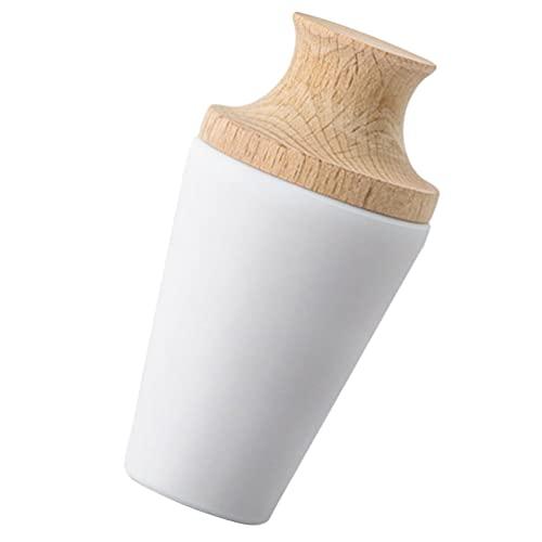 HEMOTON Tapones Blancos de Silicona para Botellas de Vino para Vino Bebida Soda Cerveza Mantener La Frescura Tapones de Vino Reutilizables