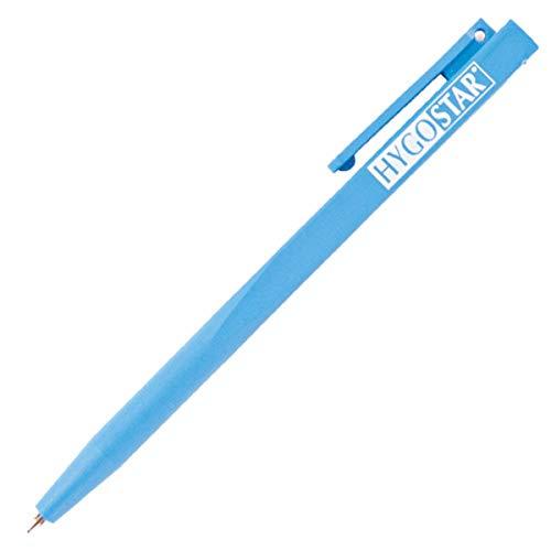 Detektierbarer Kunststoff- Kuli, Kugelschreiber, Plastik Kugelschreiber, blaue Schrift