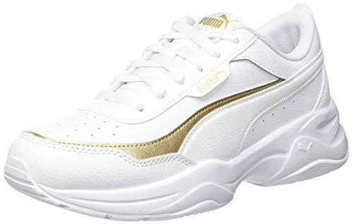Puma Cilia Mode Lux, Zapatillas Mujer, Blanco Team Oro, 39 EU