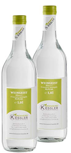 Brennerei Kessler Weingeist Primasprit Ethanol 96,4% - 2000ml