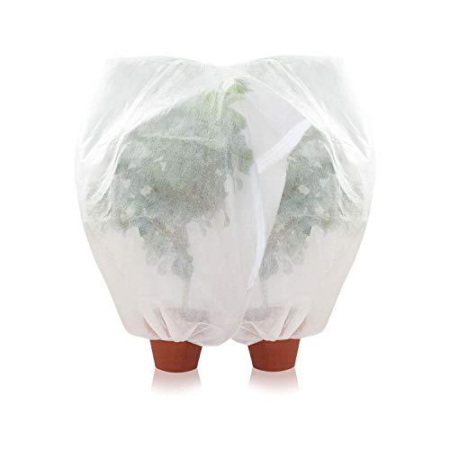 Amazy Schutzhülle für Pflanzen (2er Set | L) – Der praktische Kübelpflanzensack aus Vlies schützt empfindliche Topfpflanzen vor Frost, Wind und Niederschlag (180 x 120 cm)