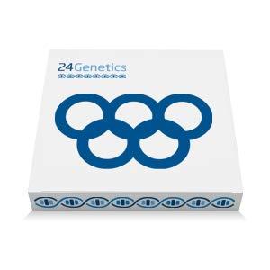 24Genetics - Test de ADN Deporte - Prueba Genética Deportiva para el rendimiento y prevención de lesiones. Incluye kit de adn y test de ancestros