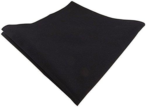 TigerTie pañuelo negro blanco lunares - 100% algodón - tamaño 34 x 34 cm