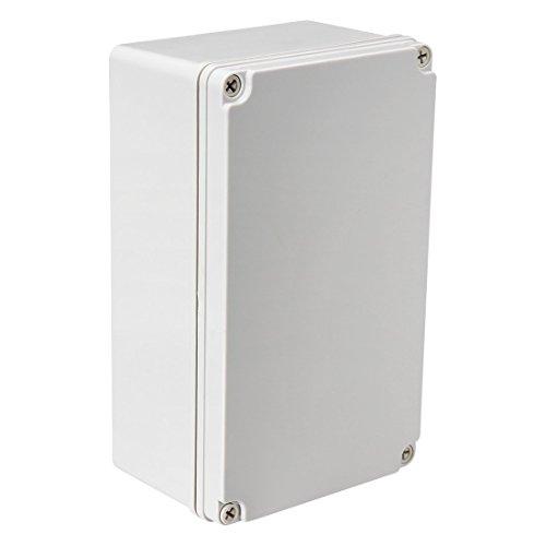 sourcingmap 250 x 150 x 100 mm / 9,84 x 5,91 x 3,94 Zoll Wasserdicht IP67 Elektronischer ABS-Kunststoff DIY Abzweigkasten Projektkasten Gehäuse Gehäuse für Outdoor/Indoor