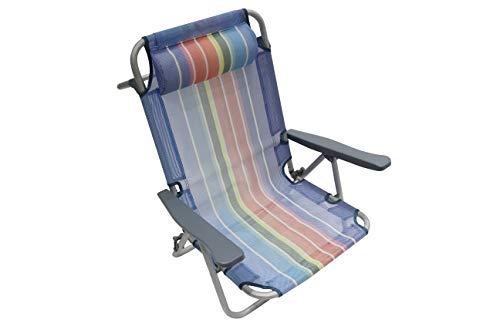 Homecall Klappbarer Strandstuhl mit verstellbarer Rückenlehne - (Regenbogen)
