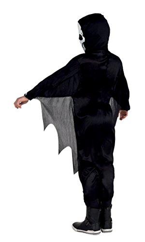 Boland- Costume Scheletro Scary Skeleton per Bambini, Nero/Bianco, 7-9 anni, 78073