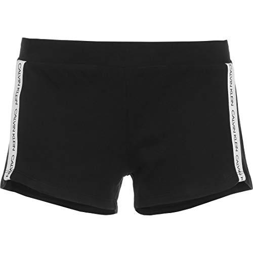 Calvin Klein Damen Short Schlafanzughose, Schwarz (PVH Black 050000 BEH), Small