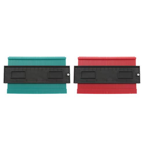 kowaku Herramienta de Medición de Baldosas de Plástico de Calibre 6 Pulgadas Este de 2 Piezas, 2 Colores