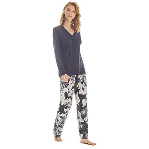 PROMISE Pijama de Mujer Floral M/L Verano N09132