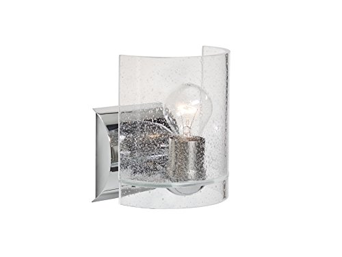 Besa Lighting 1WZ-CELTICBB-CR Celtic - One Light Wall Sconce, Chrome Finish with Bubble Glass
