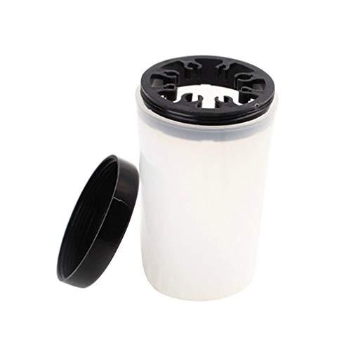 Minkissy Nail Art Stylo Support Titulaire Portable Maquillage Pinceau Nettoyant Bouteille Lavage Des Ongles Tasse Bureau Crayon Organisateur avec Couvercle pour L'école à Domicile Bureau