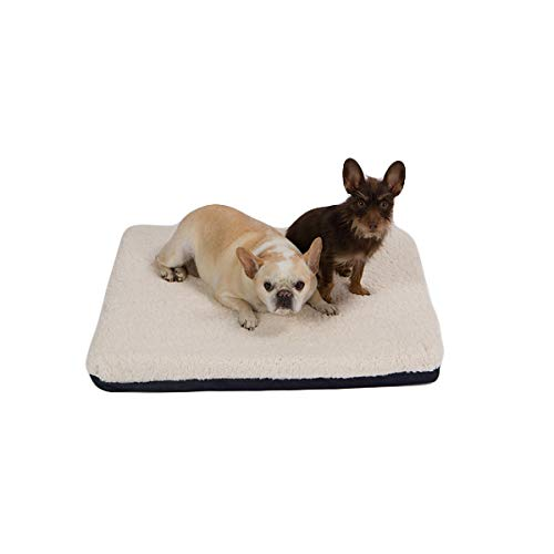 Pet Support Systems Certified Organic Latex | Orthopedic Pet Bed | 30' x 26' x 3' | (Medium, Blue Denim with Fleece Top)