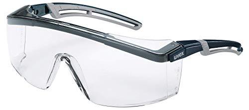 Uvex 9164185 - Gafas de seguridad Astrospeca 2.0, transparente, color negro y naranja