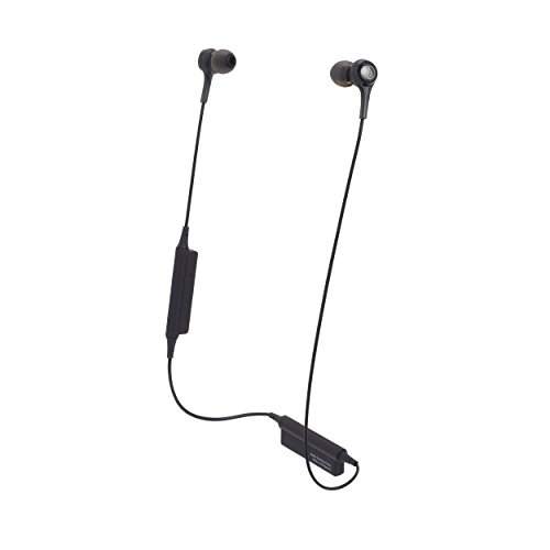 Audio-Technica ATH-CK200BTBK Bluetooth Wireless In-Ear Headphones with In-Line Mic & Control, Black
