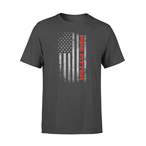 AMIROSSI Camiseta de soldador patriótico con bandera estadounidense para hombre