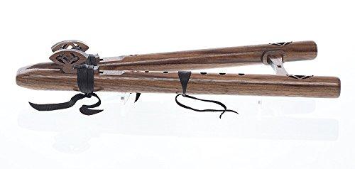flauta americana nativa doble Merlin, c