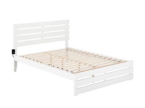 Why Choose Atlantic Furniture Oxford Bed with Footboard and USB Turbo Charger, Queen, White