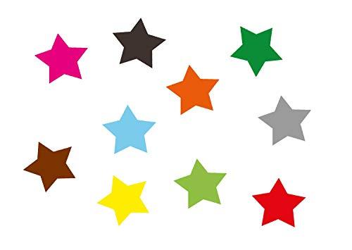 Miniblings 10x Transfert Tissu 25 mm étoile LISSE couleur I patches à repasser repassage, Color:blanc