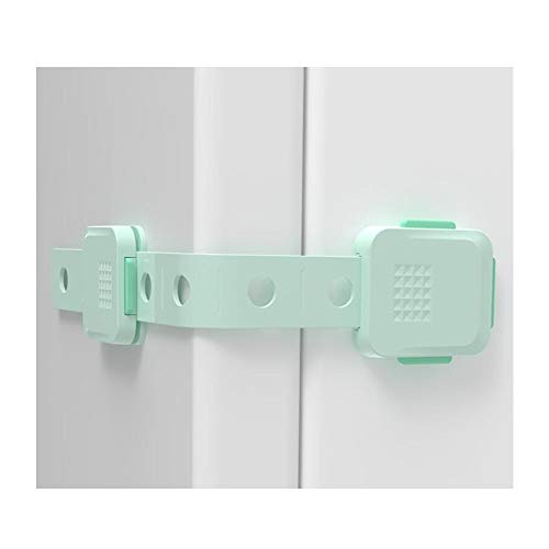 YUMEIGE Veiligheidssloten Guards & Sloten, WC-sluiting, ABS + POM + PE, Cabinet Sloten & Riemen, instelbare lengte, Druk om te ontgrendelen, eenvoudig te installeren en verwijderen, Baby-Proof deurver