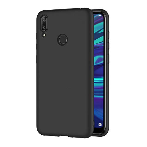 AICEK Compatible Huawei Y7 2019 Hülle, Schwarz Silikon Schutzhülle für Y7 2019 Hülle TPU Bumper Huawei Y7 2019 Handyhülle (6,26 Zoll)