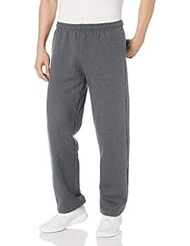 Gildan Men s Fleece Open Bottom Sweatpants with Pockets Style G18300 Dark Heather Large