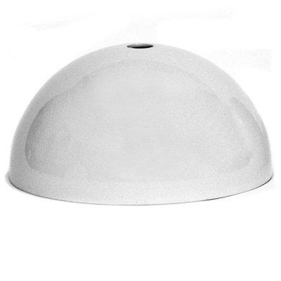 Rosace Dôme métal blanc - plafonnier