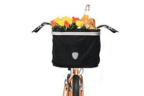 TOPMOVE® Lenkerkorbtasche Fahrradkorb Schwarz