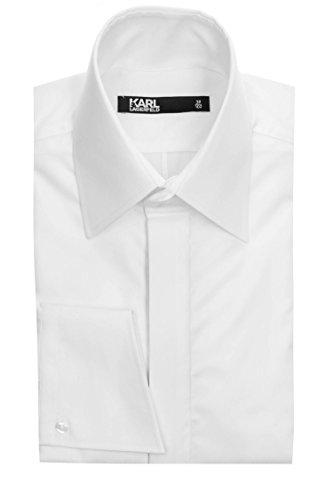 Karl Lagerfeld Herren Hemd Weiß 40