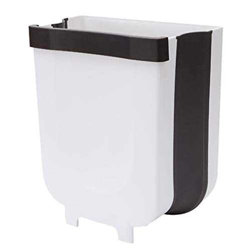 Buy Discount INORZYI Wall Mounted Folding Waste Trash Bin Home Kitchen Cabinet Door Hanging