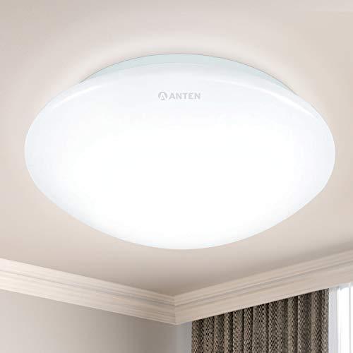 Anten LED Deckenleuchte, 24W rund Deckenlampe, Ø30x10cm, 2160 Lumen, Neutralweiß 4000K Led lampe ideal für Büro, Wohnraum,Kinderzimmer, Schlafzimmer, Flur, Küche, oder keller