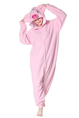 wotogold Tier Rosa Schwein Pyjama Unisex Erwachsene Cosplay Kostüme Rosa M