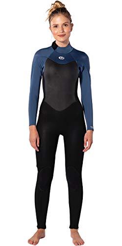 RIP CURL Traje de Neopreno Omega 3/2mm Back Zip GBS Mujer - Azul - Easy Stretch - E5 Stretcha RM - E3 Neoprene