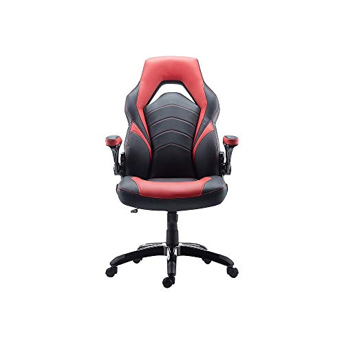 STAPLES 2710774 Gaming Chair Black and Red chair gaming red