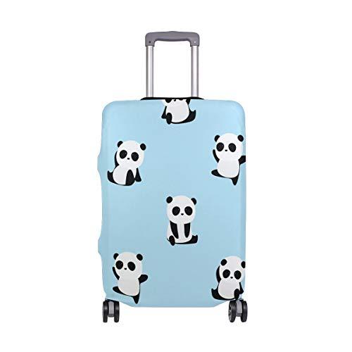 Orediy - Valigia trolley da viaggio con stampa di panda elastica (senza valigia) S M L XL Taglia, Multi (Multicolore) - suitcasecover