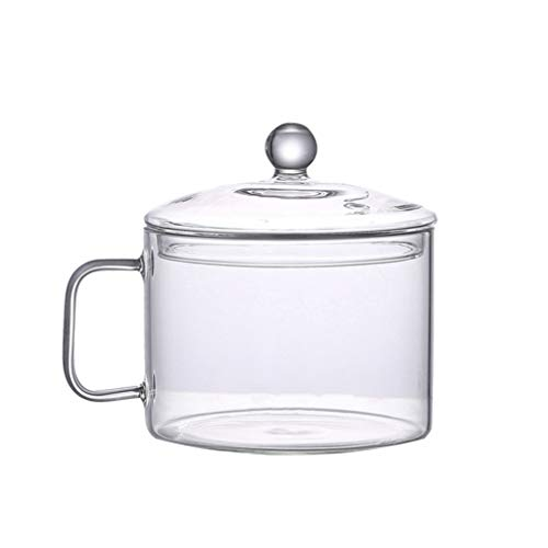 UPKOCH Glass Saucepan Heat-Resistant Glass Stovetop Cooking Pot with Lid