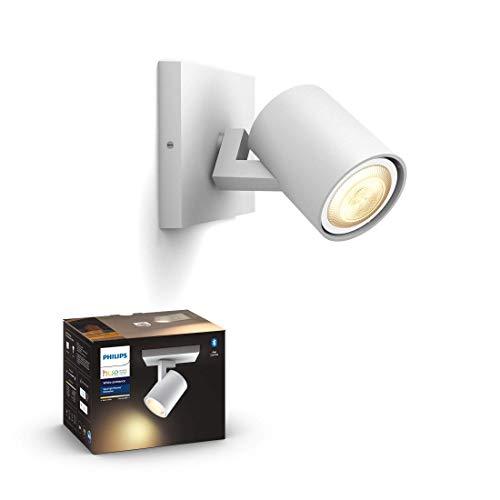 Philips Hue White Amb. LED 1-er Spotleuchte Runner, weiß, dimmbar, alle Weißschattierungen, steuerbar via App, kompatibel mit Amazon Alexa (Echo, Echo Dot)