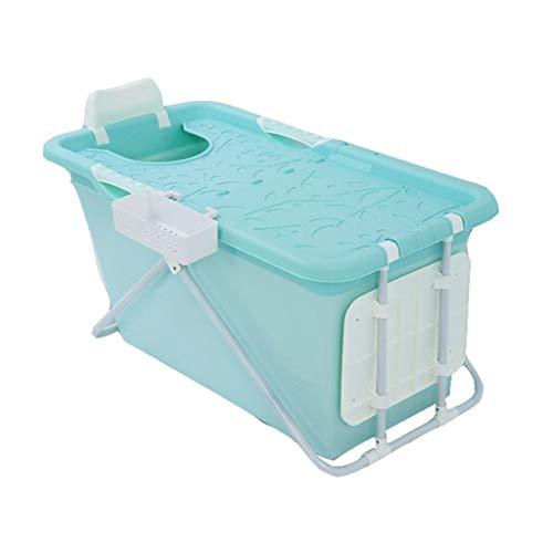MGMDIAN Bañera de plástico for Adultos Pliegue Barril de baño Adulto Bañera Bañera Bañera bebé niño Bañera Bañera Bañera Barril Extra Grande Espesar Azul (Color : Blue)