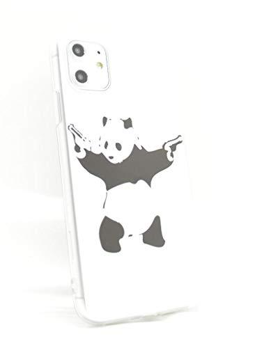 OLIVIASPHONES Handyschutzcover/Case, Motiv: Banksy Panda mit Pistolen, schlankes Design, für iPhone 11