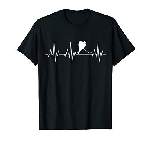 Eishockey Herzschlag T-Shirt Eis Hockey Spieler Mannschaft